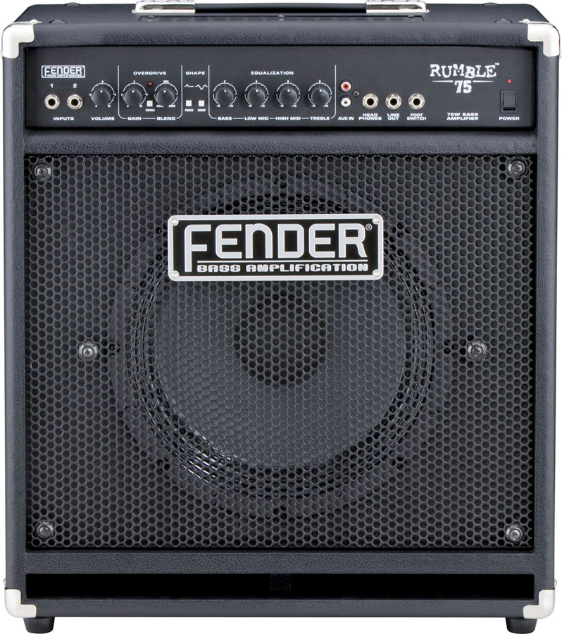 Fender Rumble 75 Blonde Shown in Black