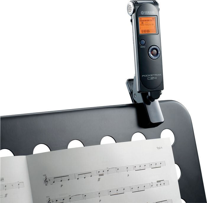 Yamaha PocketTrak C24 On Music Stand