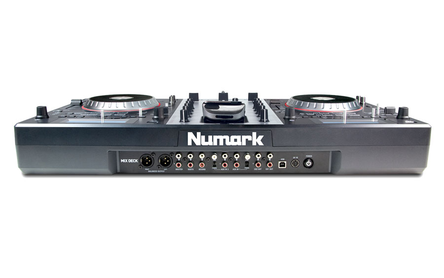 Numark MixDeck Rear View
