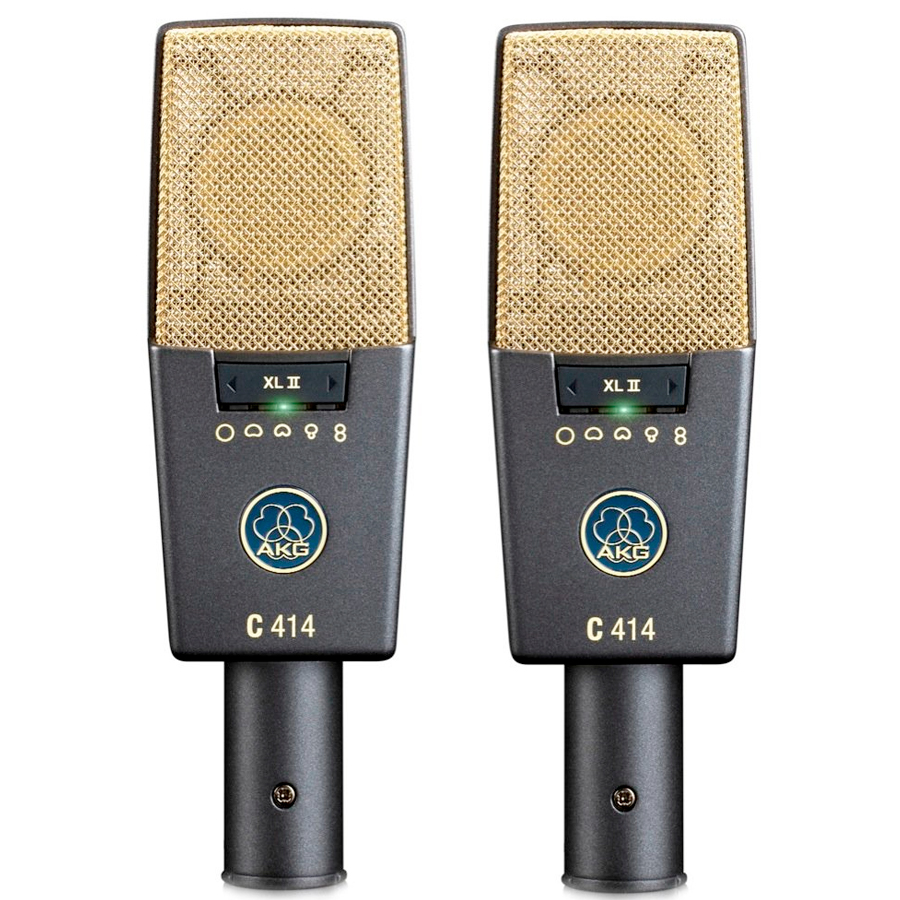 Akg C 414 XL II Matched Stereo Set Pair Mic