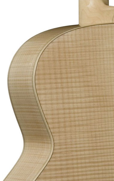 Bedell JB-52-G Jumbo Acoustic Guitar Rear Body Detail