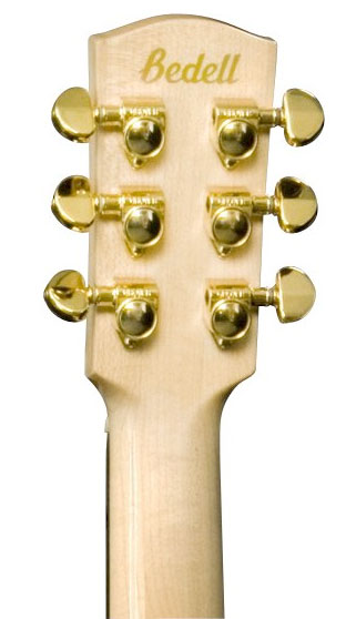 Bedell JB-52-G Jumbo Acoustic Guitar Rear Headstock