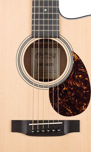 Martin OMC-16GTE Acoustic Electric Guitar Soundhole Detail