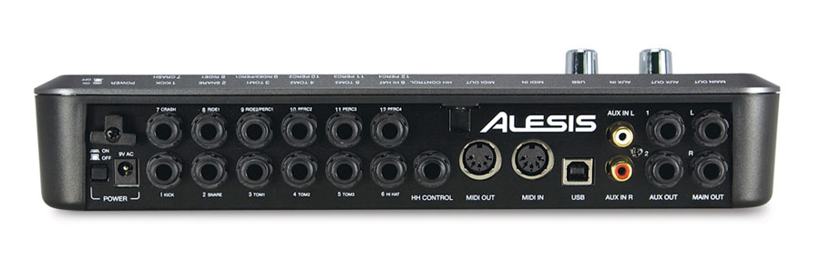 Alesis DM10 Drum Module Rear View