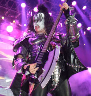 Gene Simmons with Original Axe Guitar