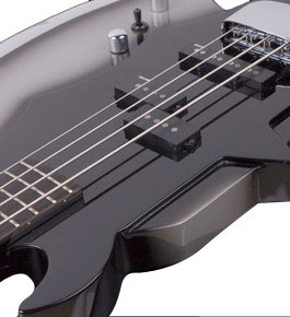 Cort Gene Simmons Axe Bass Detail View 2