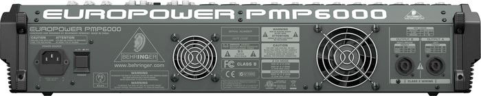 Behringer PMP6000 Rear View