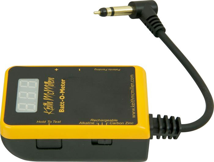 Keith McMillen Instruments Batt-O-Meter Battery Tester Left View