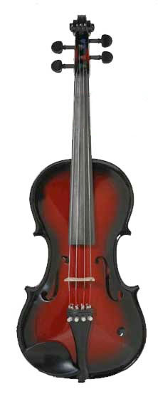 Barcus Berry Vibrato Acoustic Electric Violin Red-Berry Burst