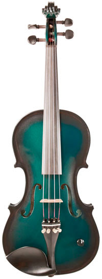 Barcus Berry Vibrato Acoustic Electric Violin Metallic Green Burst