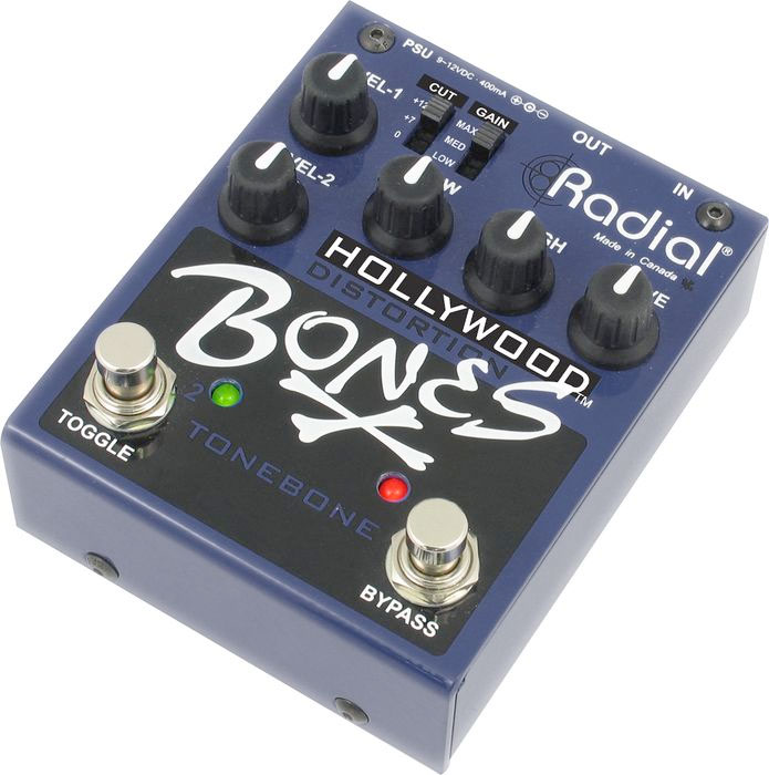 Hollywood Bones - Distortion Guitar Effects Pedal