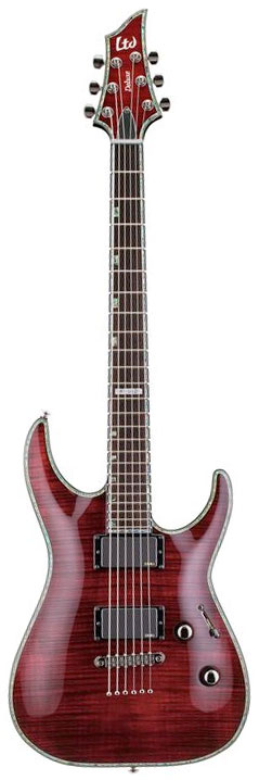LTD Deluxe H-1001FM See-Thru Black Cherry