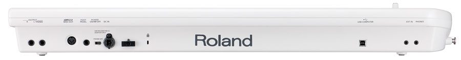 Roland Lucina AX-09 Black Sparkle Rear View Shown in Pearl White