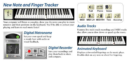 eMedia Piano & Keyboard Method v3.0 Features