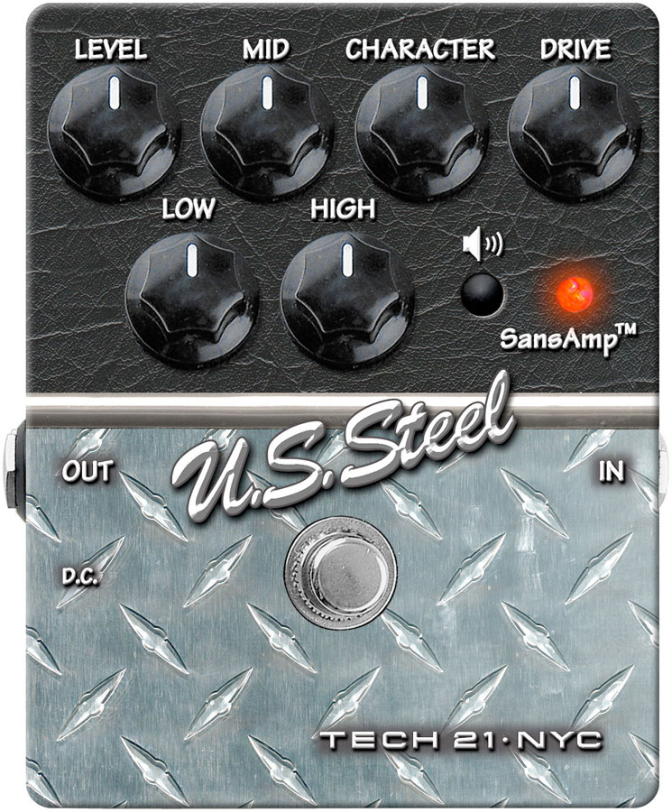 U.S. Steel Overdrive Guitar Effects Pedal