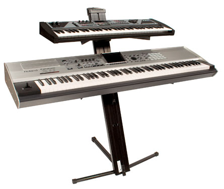 Ultimate Support AX48 Pro - Silver W/ Keyboards in Black