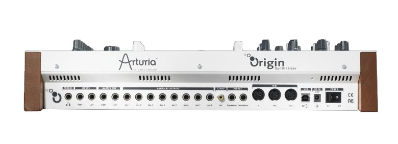 Arturia Origin Desktop Synthesizer Rear View