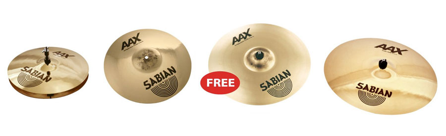 Sabian 25005XXP AAX Promotional Set - Limited Edition Included Cymbals