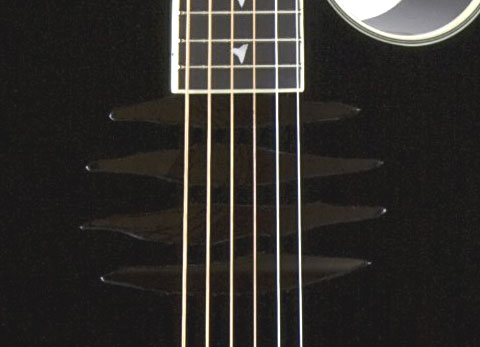 Dean Mako Dave Mustaine Acoustic Electric Guitar Classic Black Soundhole Detail