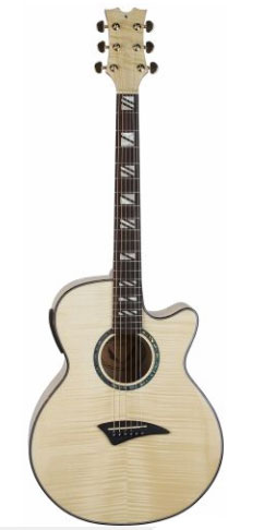 Performer Acoustic Electric Guitar Flame Maple Gloss Natural with Aphex