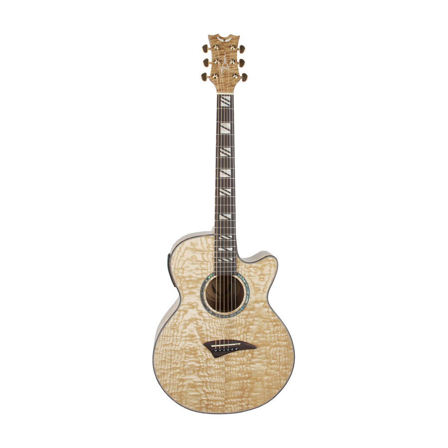 Performer Acoustic Electric Guitar Quilt Ash Gloss Natural