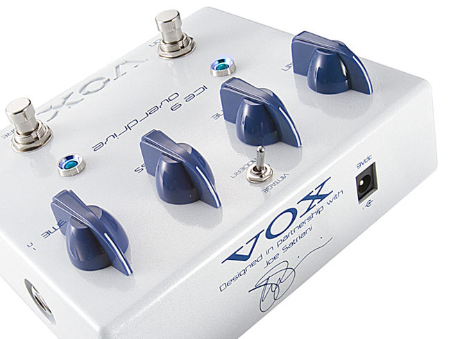 Vox Joe Satriani Ice 9 Overdrive Pedal Rear View
