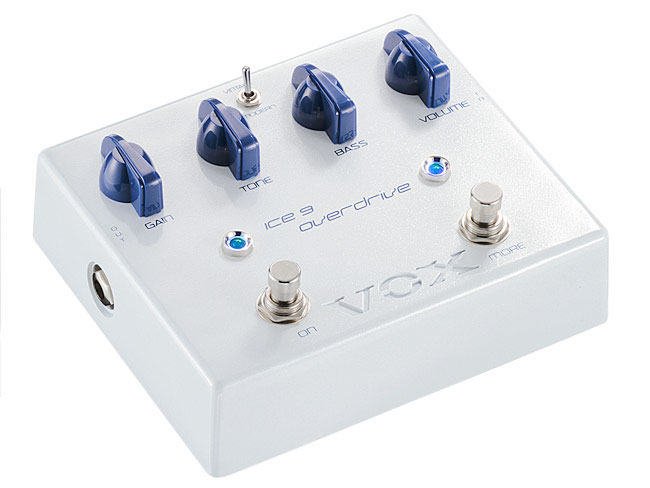 Vox Joe Satriani Ice 9 Overdrive Pedal Angled View