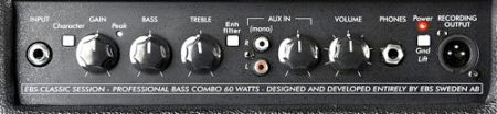 EBS Session 60 Combo Bass Amp Tiltback Front Panel