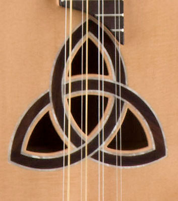 Luna Guitars Trinity Electric Bouzouki Celtic Inlay Detail