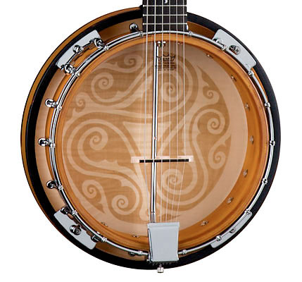 Luna Guitars 6-String Celtic Banjo Body Detail