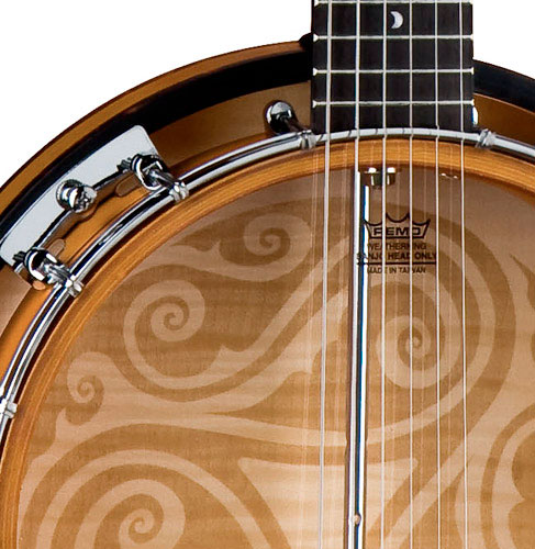 Luna Guitars 6-String Celtic Banjo Celtic Resonator Detail