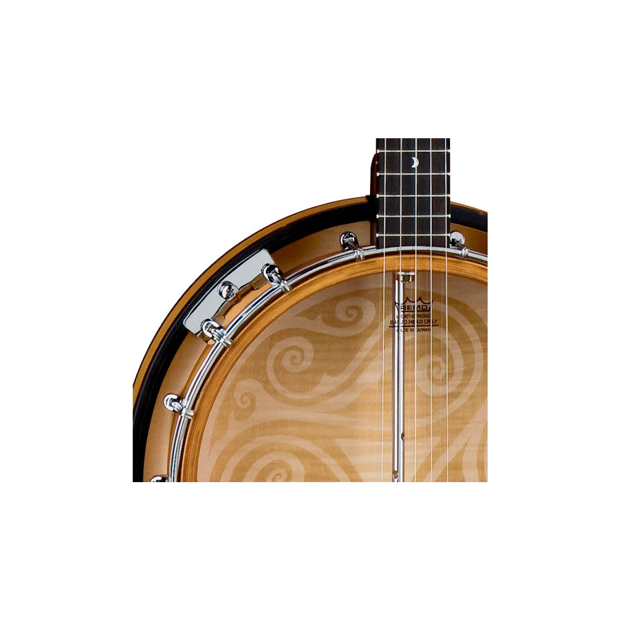 Luna Guitars 5-String Celtic Banjo Body Detail
