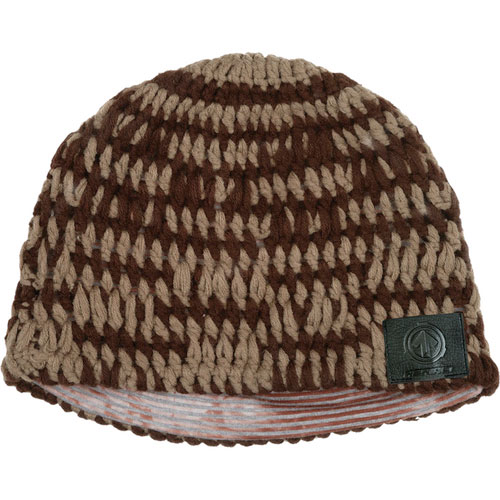 Sound Disk Beanie - Knit Brown Green Fitted
