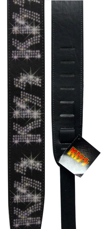 Planet Waves Kiss Strap Collection Rhinestone Logo
