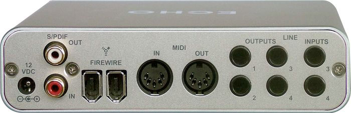 Echo AudioFire4 Rear View