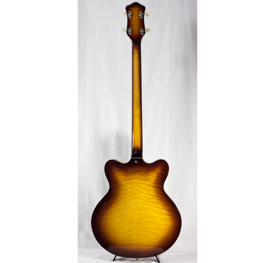 Hofner Contemporary Series Verythin Bass Guitar - Sunburst Rear View