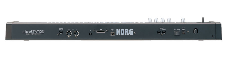 Korg microStation Rear View