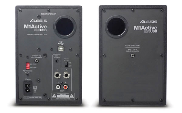 Alesis M1 Active 520 USB Pair Rear View