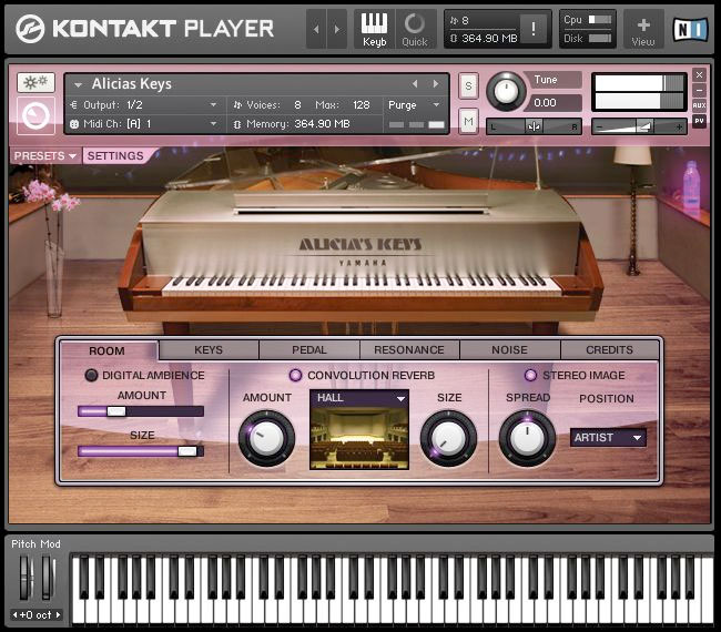 Native Instruments Alicias Keys Screenshot 1
