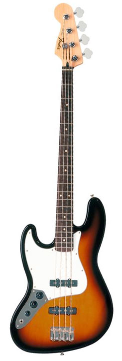 Standard Jazz Bass Left-Handed Brown Sunburst
