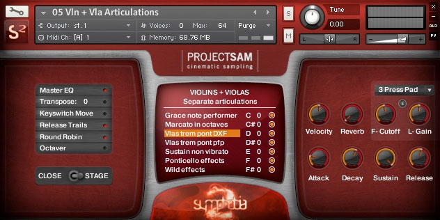 ProjectSAM Symphobia vol. 2 Screenshot