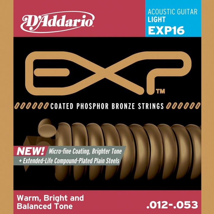 EXP16 Extended Play Phosphur Bronze Acoustic Guitar Strings - Lite