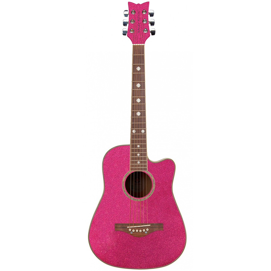 Wildwood Short Scale Acoustic Guitar - Atomic Pink