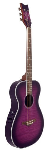 Daisy Rock Pixie Acoustic-Electric - Plum Purple Burst Side View