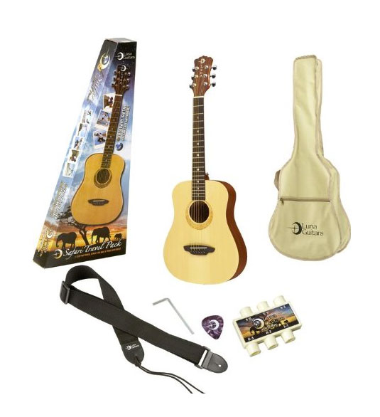 Safari Muse Travel Guitar Pack - Spruce