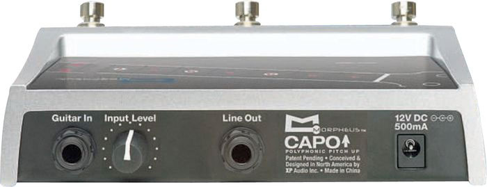 Morpheus Capo Guitar Effects Pedal Rear View
