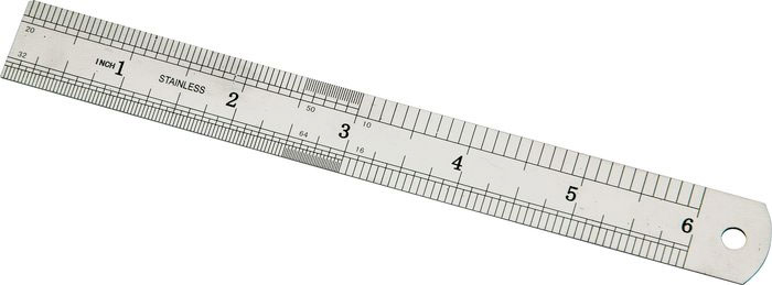 CruzTools GrooveTech Guitar Player Tech Kit Ruler, Inch Side