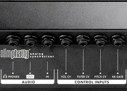 Moog Slim Phatty Audio and Control Inputs