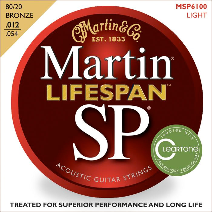 SP 6100 80/20 Bronze Lifespan Coated Acoustic Strings Light