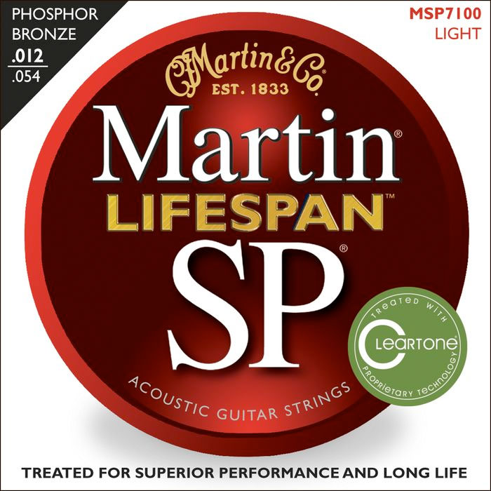SP 7100 Phosphor Bronze Lifespan Coated Acoustic Strings Light